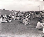 Picture relating to Acton - titled 'Children at Acton school sports ground'