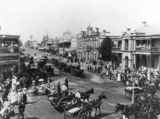 Picture relating to Toowoomba - titled 'Crowds on Ruthven Street, Toowoomba, Queensland, ca. 1907'
